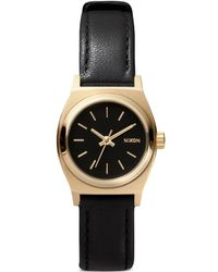 Nixon The Small Time Teller Leather' Watch - Lyst