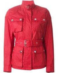 Love Moschino Cargo Belted Jacket - Lyst