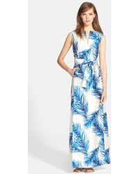 Tory Burch Women'S Print Silk Gazar Belted Gown - Lyst