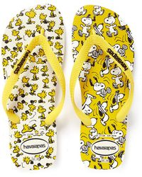 Havaianas Snoopy Print Flip Flops yellow - Lyst