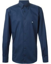 Etro Embroidered Logo Shirt - Lyst