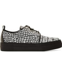 McQ by Alexander McQueen Woven Croc Chris Lace-Up Sneaker - Lyst
