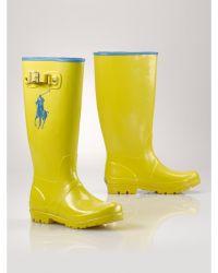 Ralph Lauren Yellow Ralph Rainboot - Lyst