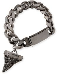 Givenchy Gunmetal Pave Crystal Shark Tooth Bracelet - Lyst