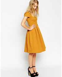 Asos Tall Debutante Full Midi Dress In Texture - Lyst