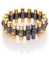 Reed Krakoff Bionic Two-Tone Link Bracelet silver - Lyst