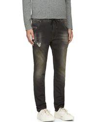 Diesel Black Faded Krooley_ne Jogg Jeans - Lyst