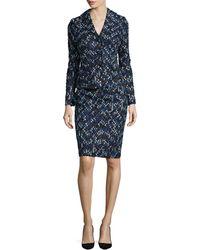 Kay Unger - Metallic-tweed Jacket & Skirt - Lyst