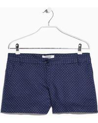 Mango Printed Shorts - Lyst