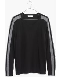 Madewell Cashmere Varsity Sweatshirt - Lyst