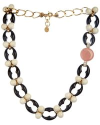 Valentina Brugnatelli Ornella Swarovski & Crystal Necklace black - Lyst