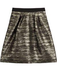 Alberta Ferretti Metallic Lam Skirt - Lyst