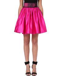 Christopher Kane Flared Silk Skirt Pink - Lyst