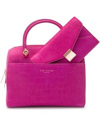 Ted Baker Mini Bowler Tote Bag with Removable Clutch - Lyst