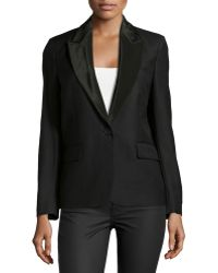 Stella McCartney Satin-Lapel One-Button Blazer - Lyst
