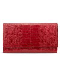 Smythson | red Mara Marshall Croc Effect Leather Travel Wallet | Lyst
