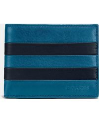 COACH | Modern Varsity Slim Billfold Id Wallet In Sport Calf Leather | Lyst