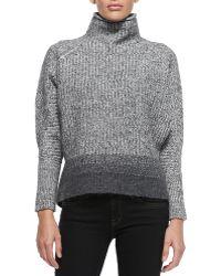 Elie Tahari Mabelle Wool-blend Turtleneck Sweater - Lyst