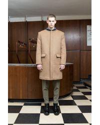 Mei Kawa   Camel Bomber Collar Wool Overcoat   Lyst
