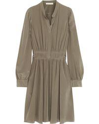 Vanessa Bruno Billund Silk Crepe De Chine Dress - Lyst