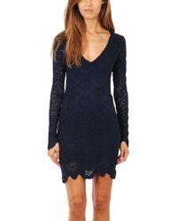 Nightcap Deep V Spanish Lace Dress - Lyst