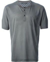 Dolce & Gabbana Henley T-Shirt - Lyst