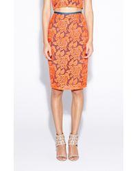Nicole Miller Carter Flower Organza Skirt - Lyst