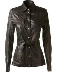 Balmain Black Soft Leather Shirt - Lyst