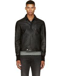 Silent - Damir Doma Black Classic Leather Jacket - Lyst