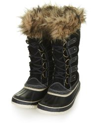 Topshop Joan Of Artic Leather Boots by Sorel - Lyst