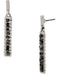 Kenneth Cole | Beaded Linear Drop Earrings | Lyst