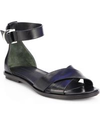 Alexander Wang Talis Leather Crisscross Sandals - Lyst