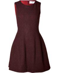Prabal Gurung Molded Seam Wool Dress - Lyst