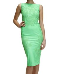 Ermanno Scervino Dress Without Maniche Neck Back Jersey With Lace - Lyst
