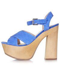 Topshop Lilli2 Wooden Platform Sandals - Lyst