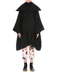 Yohji Yamamoto Oversized Raglansleeve Coat Black - Lyst