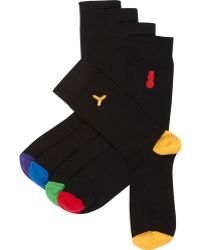 River Island Black Mixed Christmas Sock Pack - Lyst