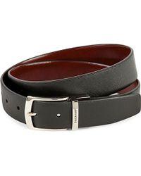 Duchamp - Reversible Textured Leather Belt - Lyst