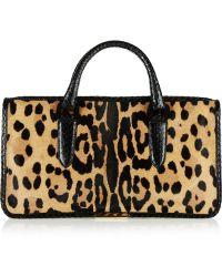 Tamara Mellon - Diglam Elaphetrimmed Leopardprint Calf Hair Tote - Lyst