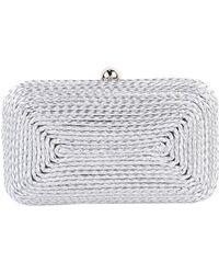 Sondra Roberts Braided Hardframe Clutch silver - Lyst