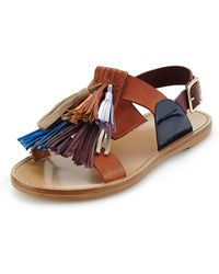 Isabel Marant Flat Leather Pompom Sandal - Lyst