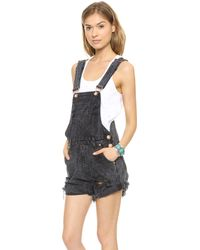 One Teaspoon Short Overalls One Teaspoon Le Hawk Super
