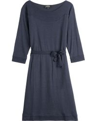 A.P.C. Stretch Knit Dress - Lyst
