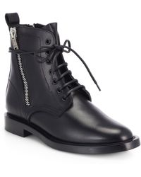 Saint Laurent Rangers Leather Lace-Up Combat Boots - Lyst
