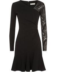 Emilio Pucci Lace Sleeve Dress - Lyst