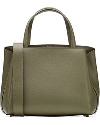 Valextra Tranali Leather Tote - Lyst