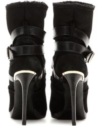 Burberry Brit - Belted Suede Ankle Boots - Lyst