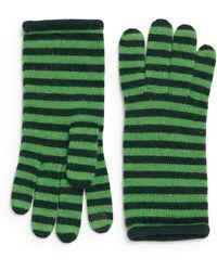 Portolano Minerva Striped Knit Tech Gloves - Lyst