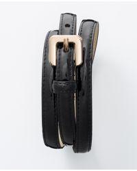 "Ann Taylor 1/2"" Patent Skinny Belt - Lyst"