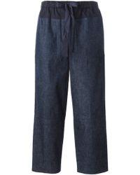 Edun Drawstring Denim Trousers - Lyst